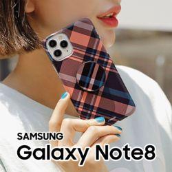 사선체크 갤럭시노트8 N950 스마트톡 하드케이스