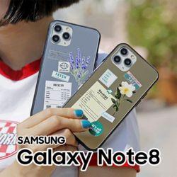 영수증플라워 갤럭시노트8 N950 미러범퍼 케이스