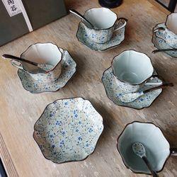 일제 아리타 400주년 한정 단델리온 5인조 찻잔세트 커피잔세트
