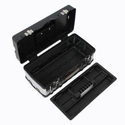 스텐 2단 공구박스(블랙) (40cmx21cm)