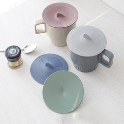 국산 파스텔 실리콘 뚜껑 다용도 컵덮개 (4color)