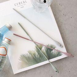 국산 파스텔 친환경 실리콘 빨대 세척솔 (3color)