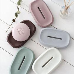 [국산] 파스텔 실리콘 뽀송 다용도 비누받침 (4color)