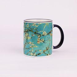 BooKiss Mug 명화 머그컵 - 고흐-꽃피는 아몬드 나무