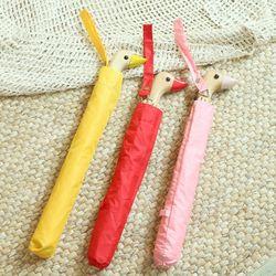 특이한 접이식 2단 자동 오리 우산 3color