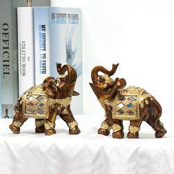 081119 골드코끼리 장식소품 2p set  (소)