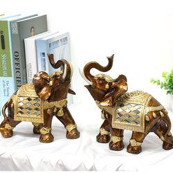 081120 골드코끼리 장식소품 2p set  (대)