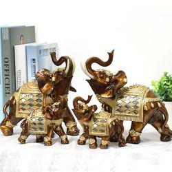 081121 골드코끼리 장식소품 4p (set)