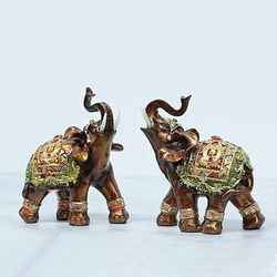 081126  코끼리 장식품 2p set  (소)