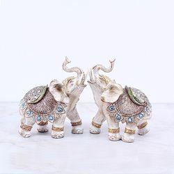 081128 빈티지 코끼리 장식품 2p set  (소)