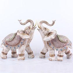 081130 빈티지 코끼리 장식품 2p set  (대)