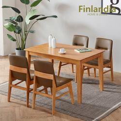 핀란디아 뉴오스턴 원목 4인식탁세트(의자4)