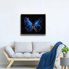 하이그로시 블루 나비 그림액자 AHG010 인테리어액자 집들이선물