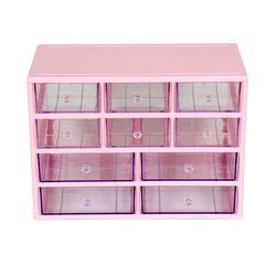 (4단 핑크)다용도 화장품정리함   4P-LLSS