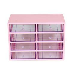 (4단 핑크)다용도 화장품정리함   4P-LLLL