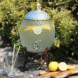 파인 음료 디스펜서 카페 파티 대용량 유리 물통 7L
