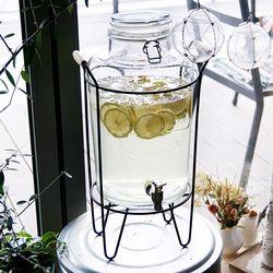난터켓 음료 디스펜서 대용량 카페 유리 물통 8L