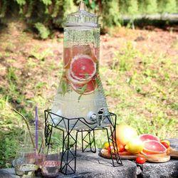 에펠 음료 디스펜서 카페 파티 대용량 유리 물통 6L