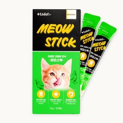 미오스틱 닭고기맛 기호성 좋은 고양이츄르 15g 10개입
