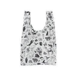 [바쿠백] 휴대용 장바구니 접이식 시장가방 Zoo