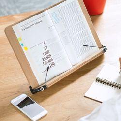 독서대 겸용 우드 태블릿 각도 조절 거치대 중형