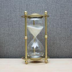 골드메탈 인테리어 모래시계(30분) (화이트)