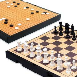명인랜드 바둑 체스 세트 중형 양면 M 250
