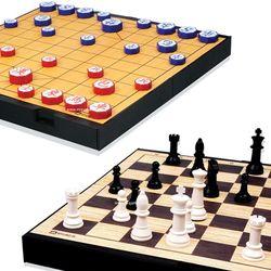 명인랜드 장기 체스 세트 중형 양면 M 259