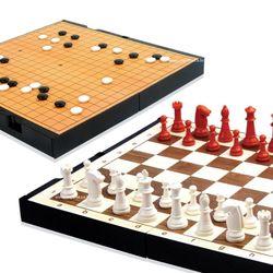 명인랜드 바둑 체스 세트 소형 양면 M 150