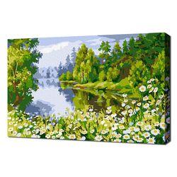 [명화그리기]2030 미니명화-강가의 꽃밭 풍경 14색 풍경화