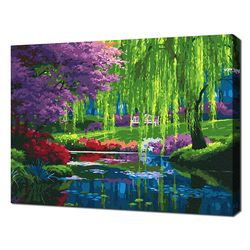 [명화그리기]4050 환상의 숲-속삭이는 시냇가 24색 풍경화