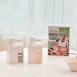 디자인 우유 Milk 화병 꽃병 (L) (2color)