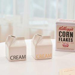 디자인 우유 Cream 화병 꽃병 (S) (2color)