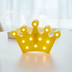 LED 크라운 왕관 무드등 인테리어 조명