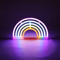 LED 레인보우 무지개 네온 무드등 인테리어 조명