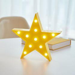 LED 별 스타 옐로우 무드등 인테리어 조명