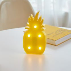 LED 파인애플 옐로우 무드등 인테리어 조명
