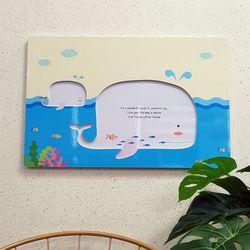 ni071-음각디자인액자고래와함께하는여행(대형)