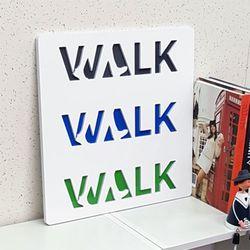 ni072-음각디자인액자walkwalkwalk