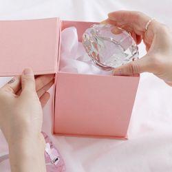 초대형 왕 슈퍼 다이아몬드 반지 링 투명+선물box