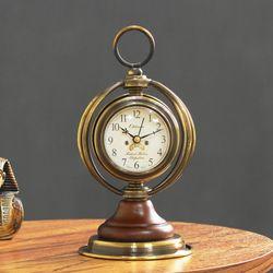 (krod038)레트로 브론즈 탁상 시계