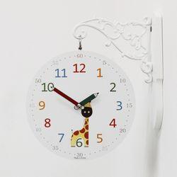 (kthx0439)교육용 양면시계(코끼리기린)