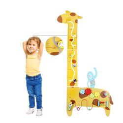 원목 어린이 기린 키재기판