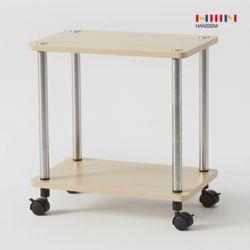 비앙 이동식 테이블 (직선형) 2단 선반  철제 사이드