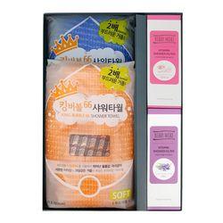 S-케어선물세트(킹버블샤워타월 2p + 샤워필터 2p)