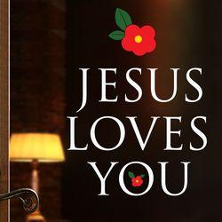 [말씀스티커]JESUS LOVES YOU-I