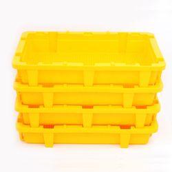 아도라하우스  플라스틱 농수산물 운반상자 (옐로우)