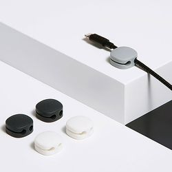 케이블 홀더 미니 (4개입) 이어폰 충전 선 정리 고정 클립