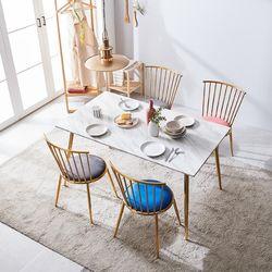 몬스 대리석 골드 4인 식탁세트아쿠아텍스 의자형(의자4)KEF019