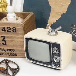 레트로 데코 소품 아이보리 텔레비전